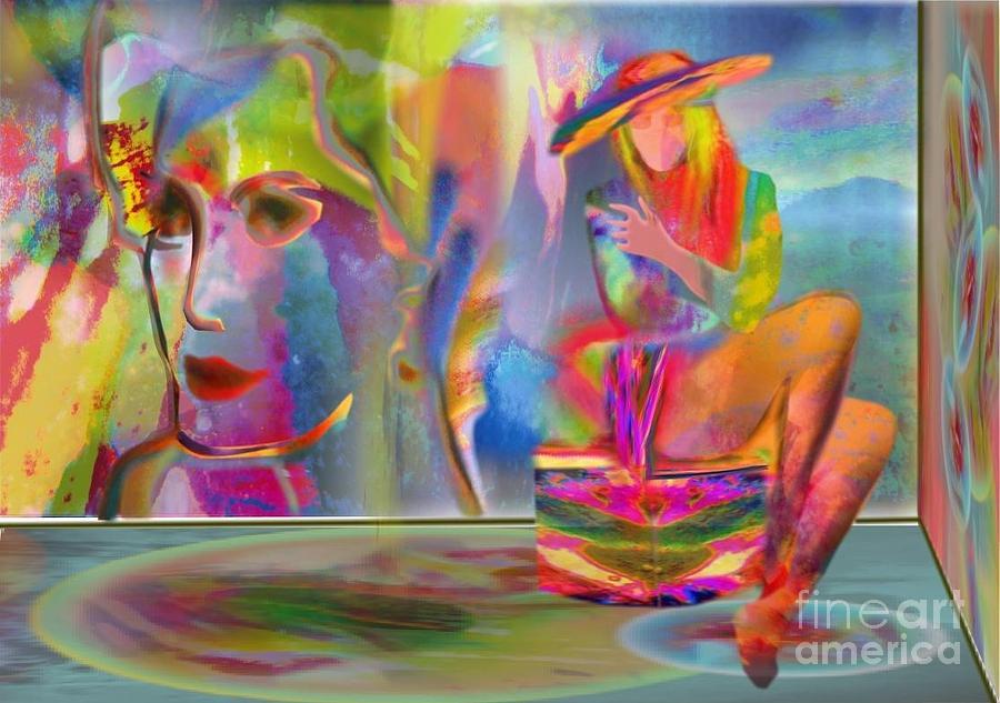 Mona In The Studio Digital Art by Will  Petralli