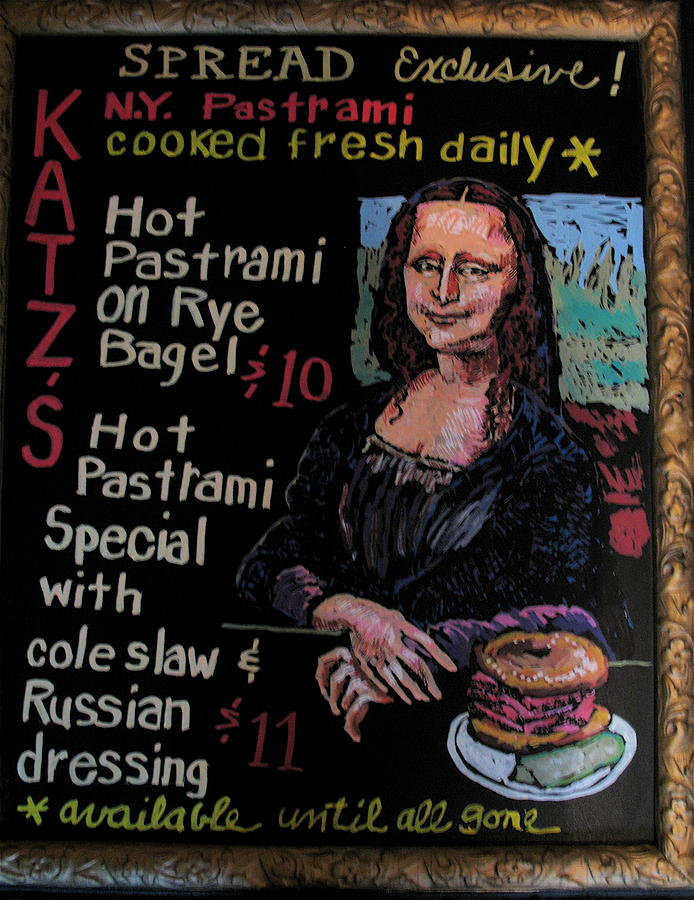 mona lisa w pastrami by Doris  Lane Grey