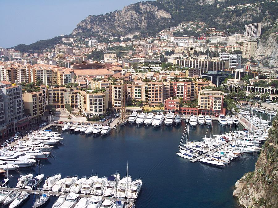 Monaco Photograph - Monaco Harbour by Marlene Challis
