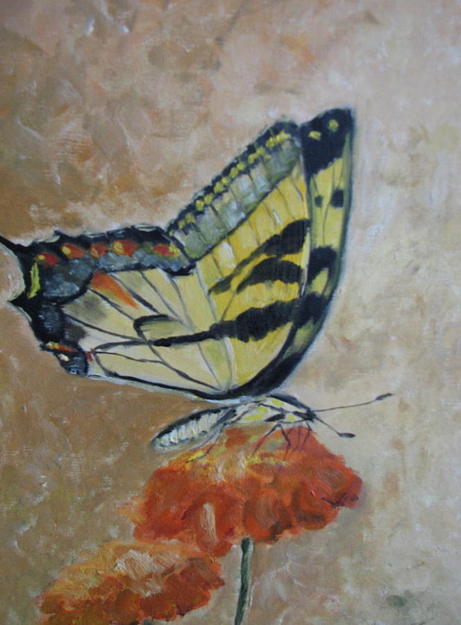 Butterfly Painting - Monarch by Iris Nazario Dziadul