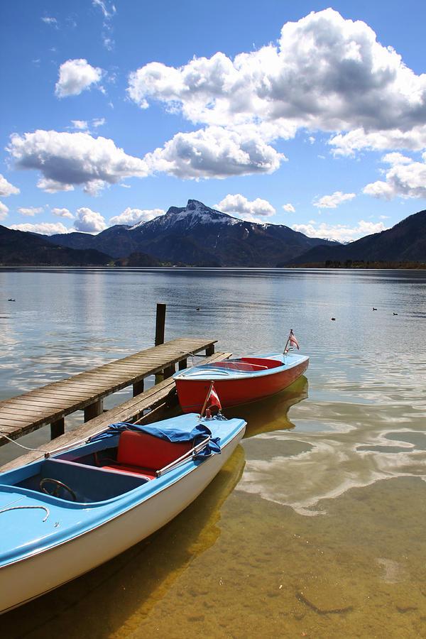 Boat Photograph - Mondsee Lake Boats by Lauri Novak