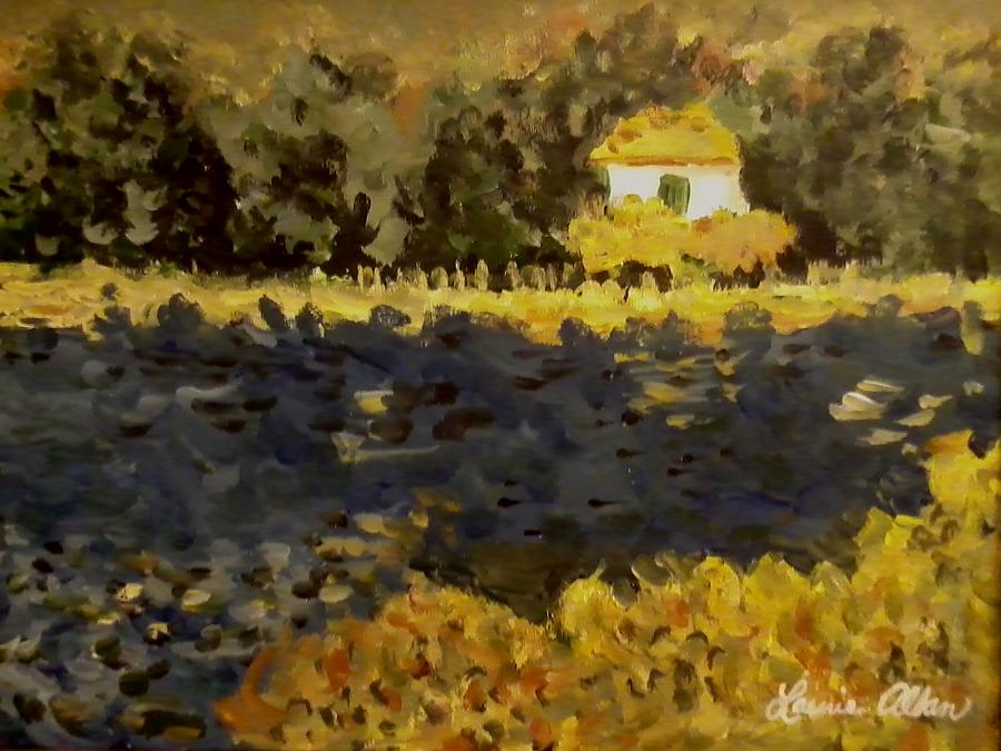 Water Painting - Monet House by Laurie Allan