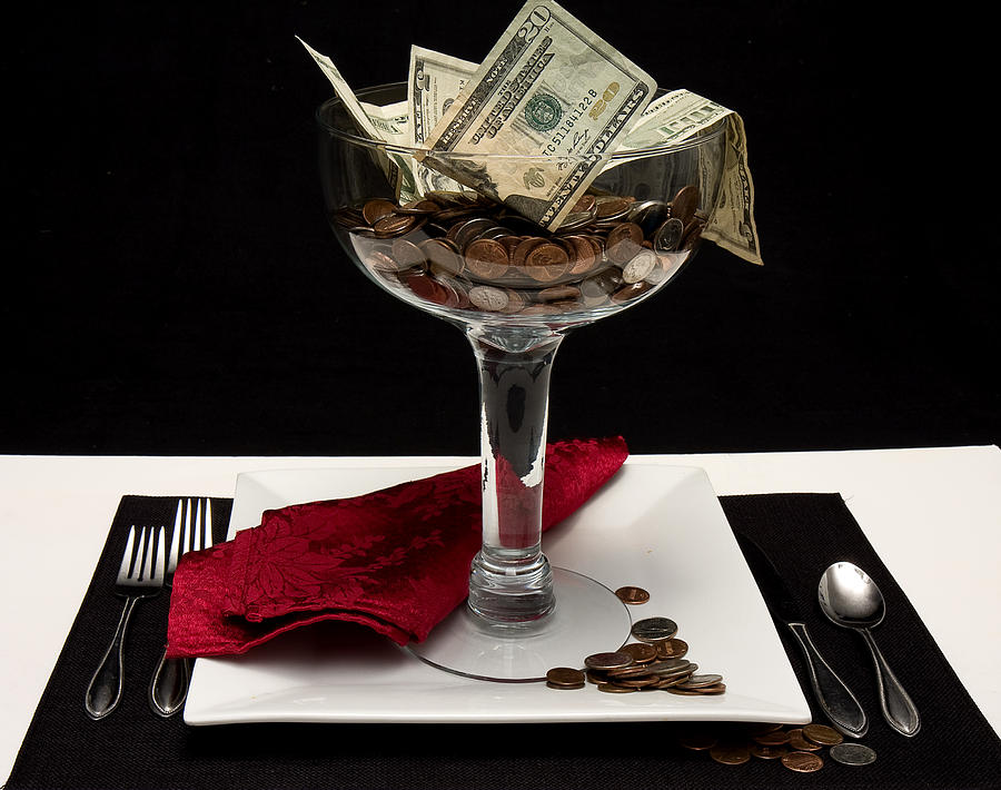 Money Photograph - Money Is Served by Trudy Wilkerson