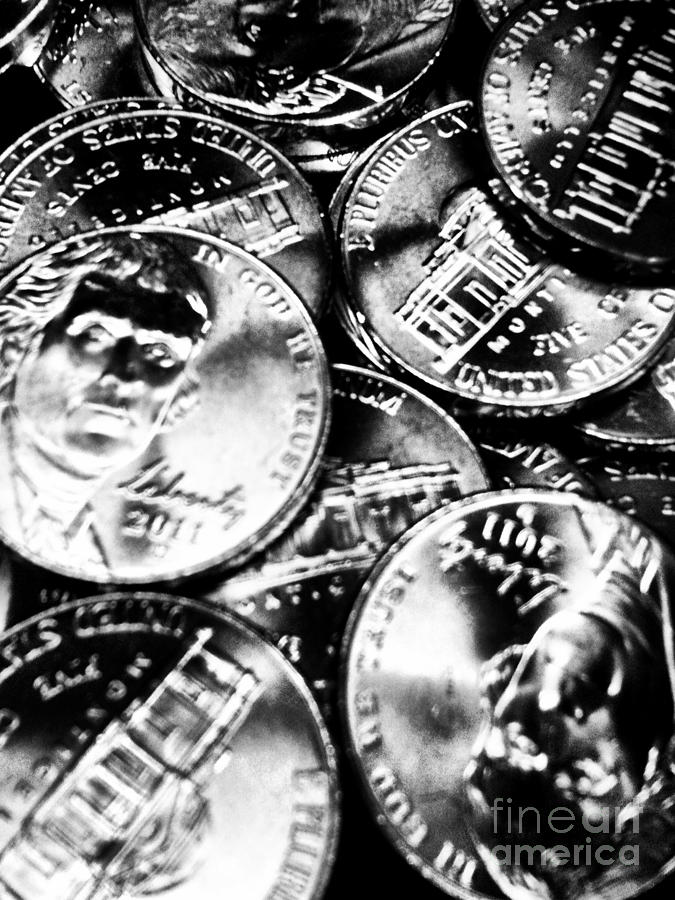 Black And White Photograph - Money by Ronnie Glover