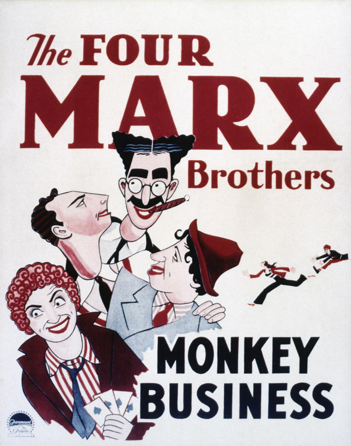 1930s Movies Photograph - Monkey Business, Clockwise From Top by Everett