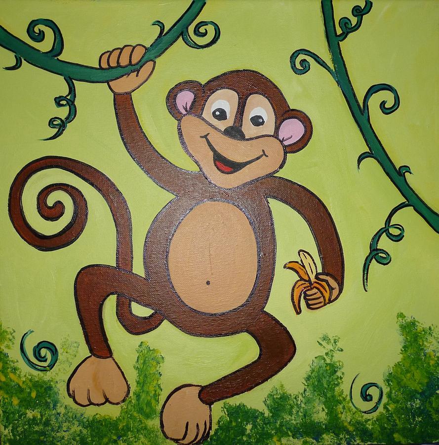 Monkey Painting By Iatridou Maria