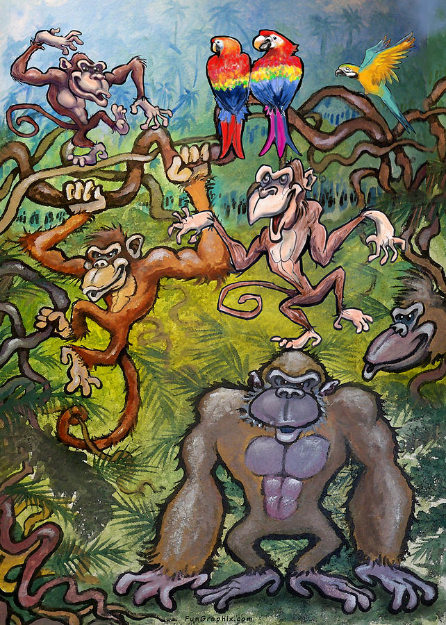 Monkeying Around Painting