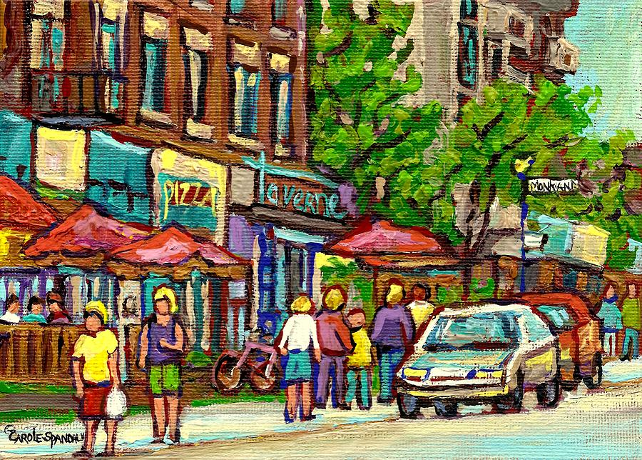 Abstract Painting - Monkland Tavern by Carole Spandau