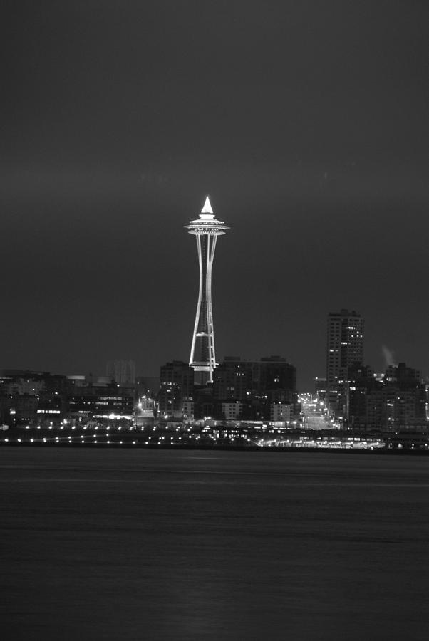 Seattle Photograph - Monochrome Needle by Michael Merry
