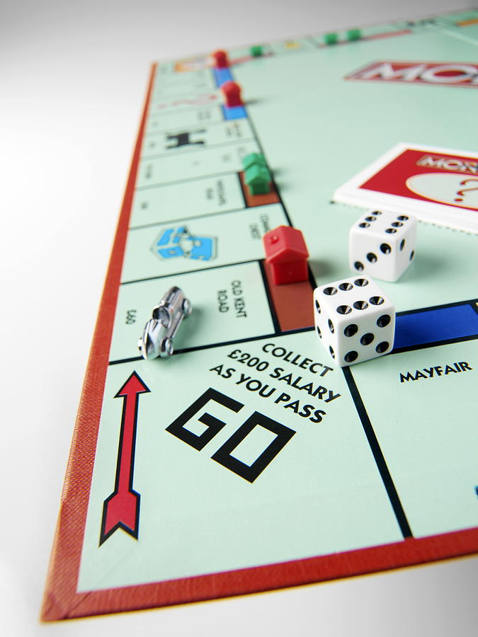 Monopoly Photograph - Monopoly Board Game by Tek Image