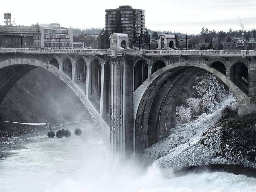 Spokane Photograph - Monroe St Bridge 2 - Spokane Washington by Daniel Hagerman