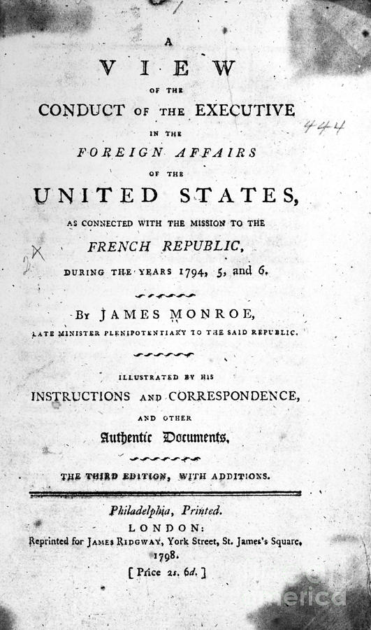 1798 Photograph - Monroe: Title Page, 1798 by Granger