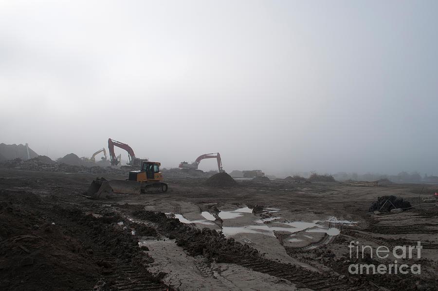 Fog Photograph - Monsters Destruction by Gary Chapple