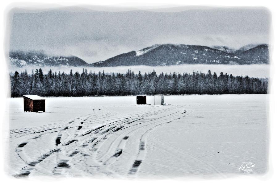 Montana Photograph - Montana Ice Fishing by Janie Johnson