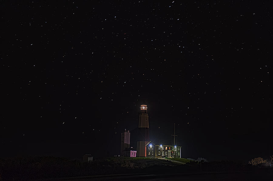 Montauk Photograph - Montauk Starry Night by William Jobes