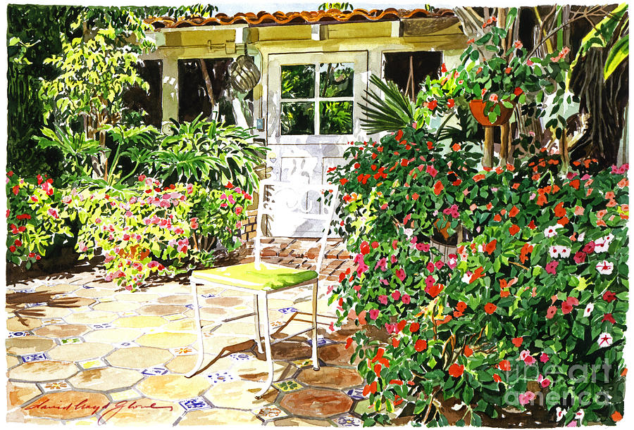 Landscape Painting - Monterey Guest House by David Lloyd Glover