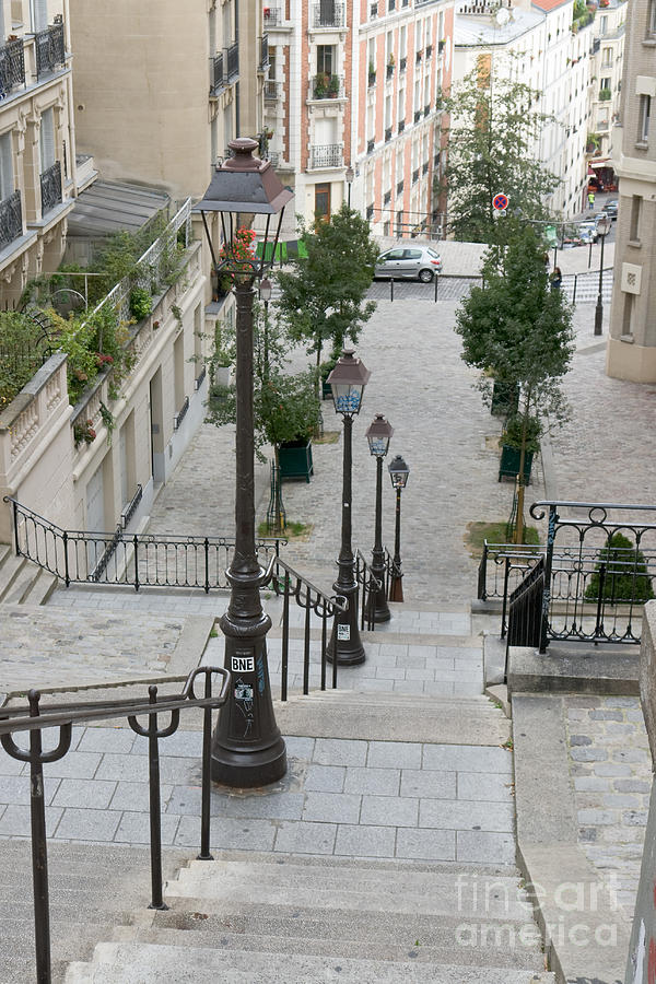 Montmartre staircase Mont-Cenis by Fabrizio Ruggeri