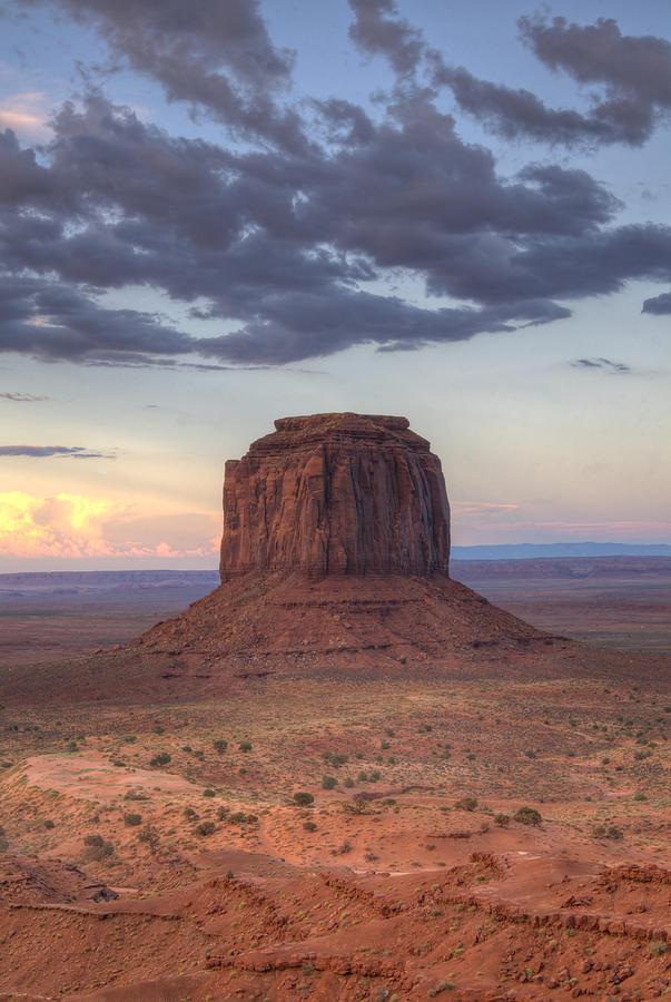 Sunset Photograph - Monument Valley - Merrick Butte by Saija  Lehtonen