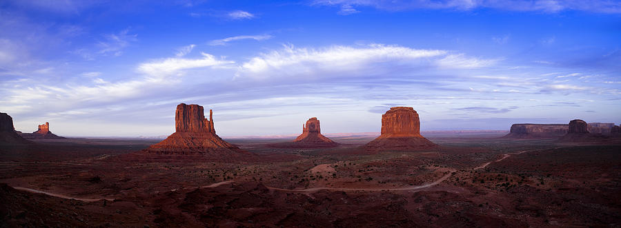 Clouds Photograph - Monument Valley At Dusk by Andrew Soundarajan