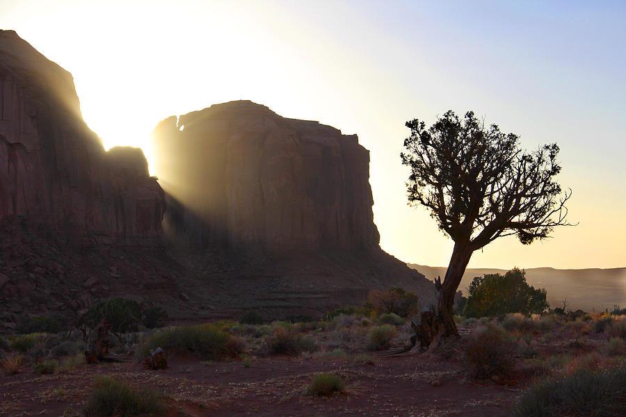 Desert Sunset Photograph - Monument Valley At Sunset by Mike McGlothlen