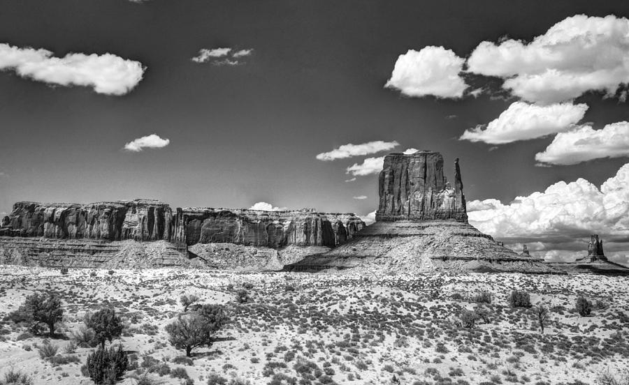 Monument Valley Photograph - Monument Valley In Monochrome  by Saija  Lehtonen