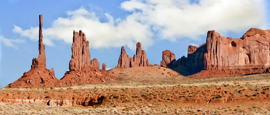 Johnston Painting - Monument Valley Totem Pole by Bob and Nadine Johnston