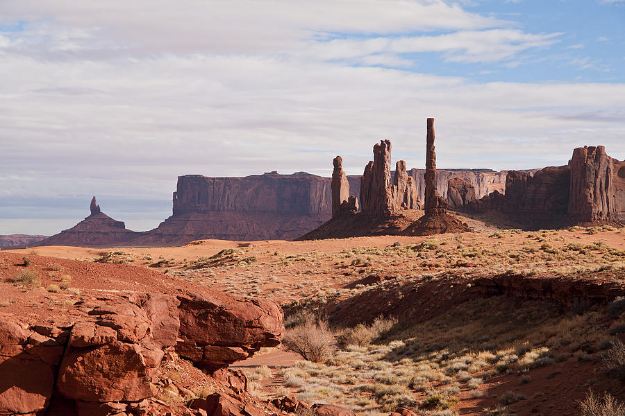 Totem Pole Photograph - Monument Valley Totem Pole by Mike Herdering