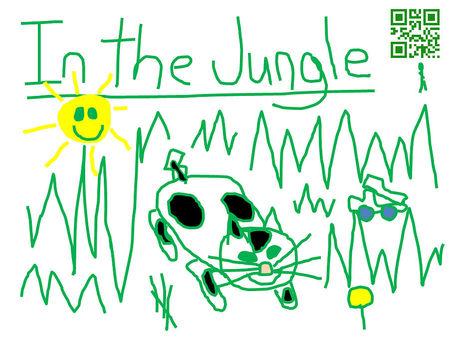 Jeffrey Digital Art - Moo Kat In The Jungle by Jeffrey Church