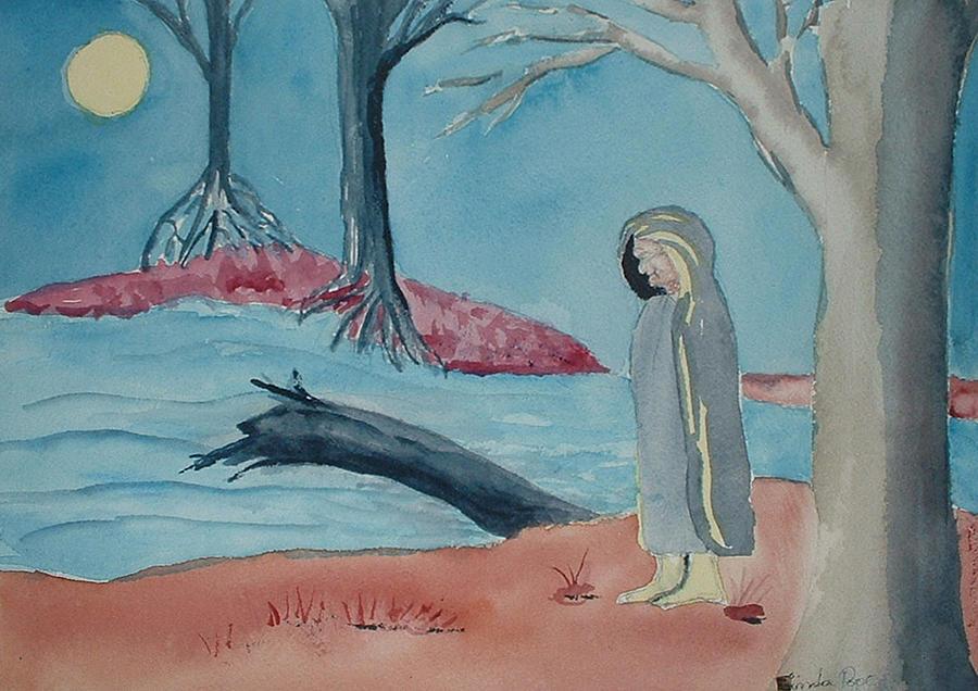 Native Painting - Moon Blanket by Linda Pope