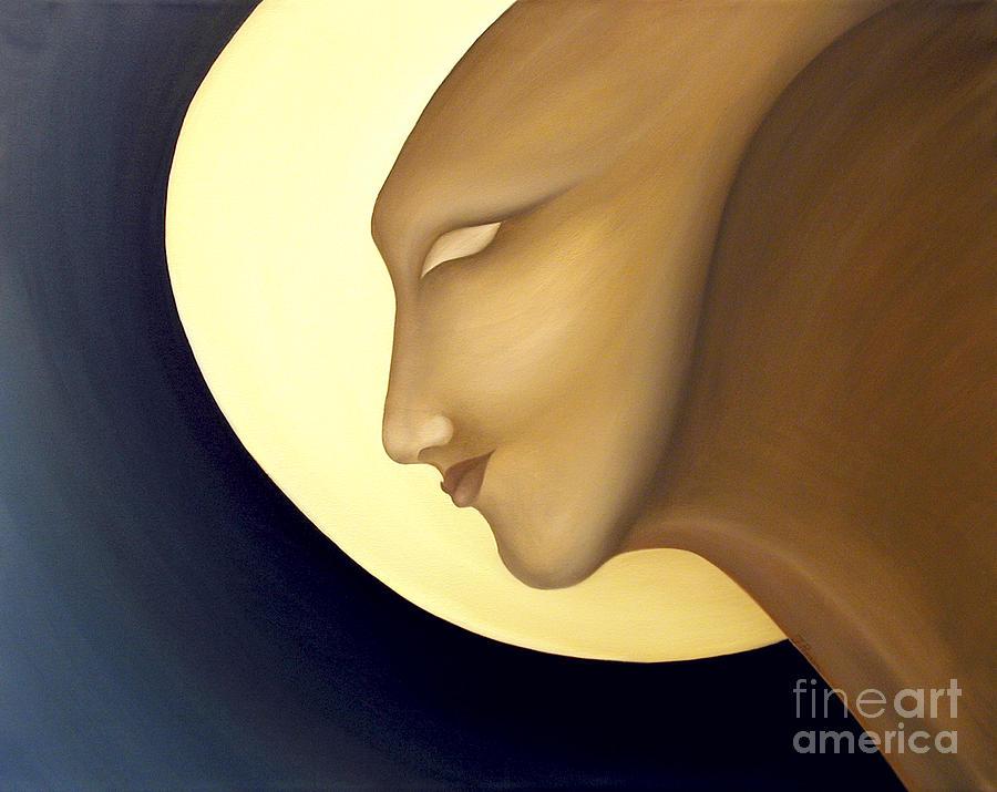 Sensual Painting - Moon Diva by Joanna Pregon