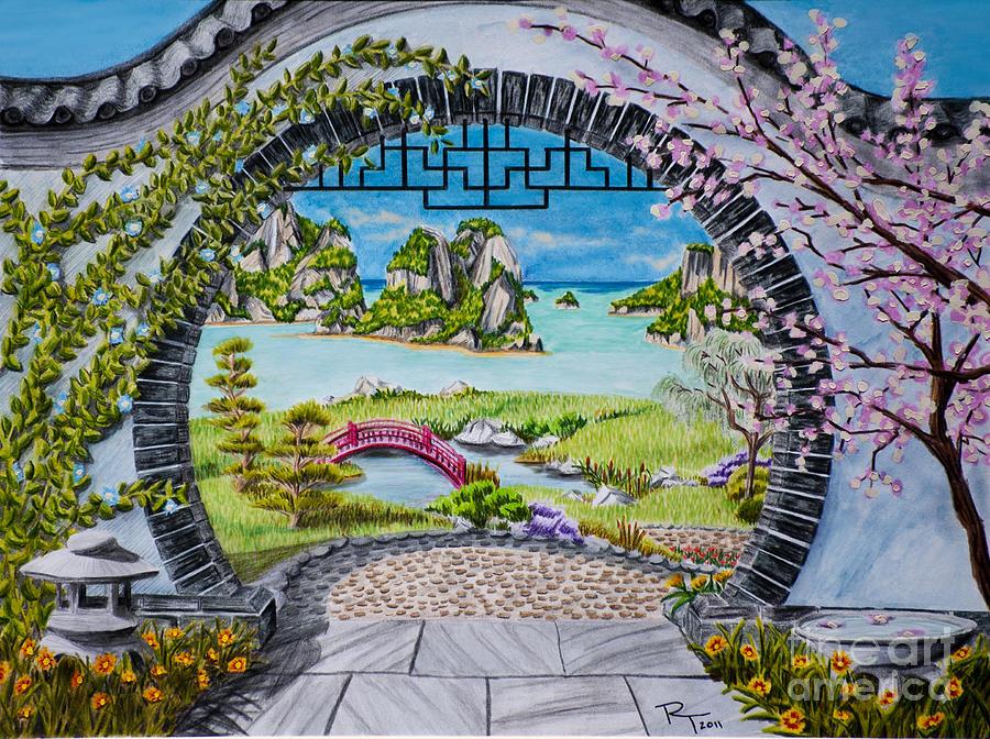 Moon Gate Drawing By Robert Thornton