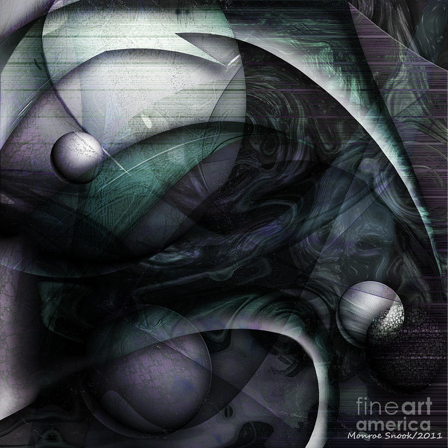 Abstraction Digital Art - Moon Glow by Monroe Snook