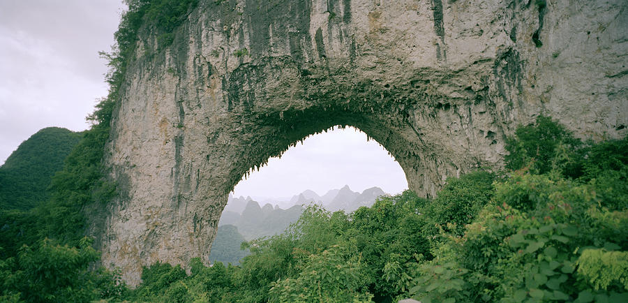 China Photograph - Moon Hill In Guangxi In China by Shaun Higson