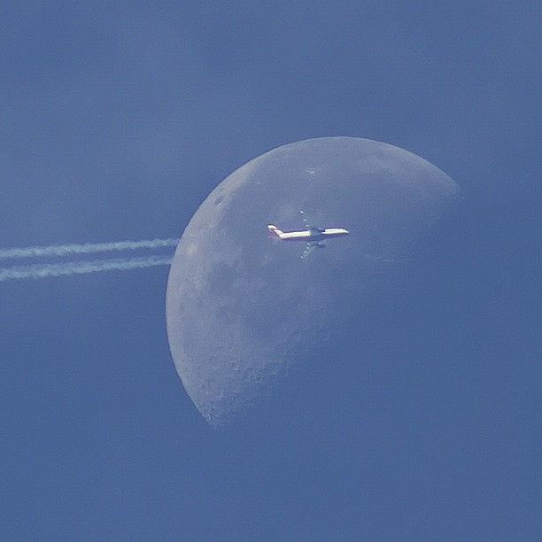 Moon Jet Photograph by Carl Milner
