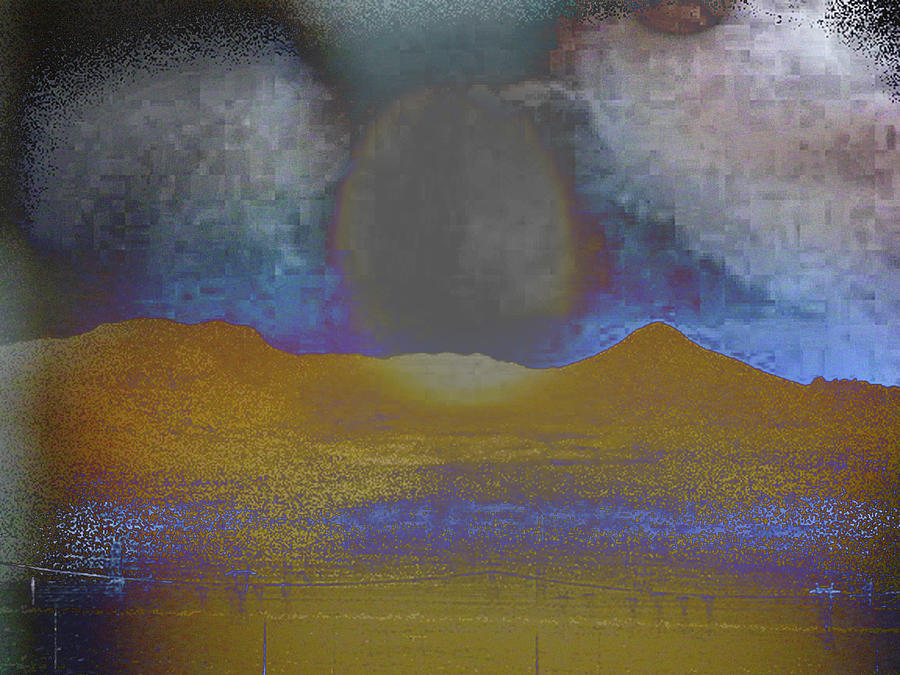 Abstract Photograph - Moon Over Arizona 2 by Lenore Senior and Angela L Walker