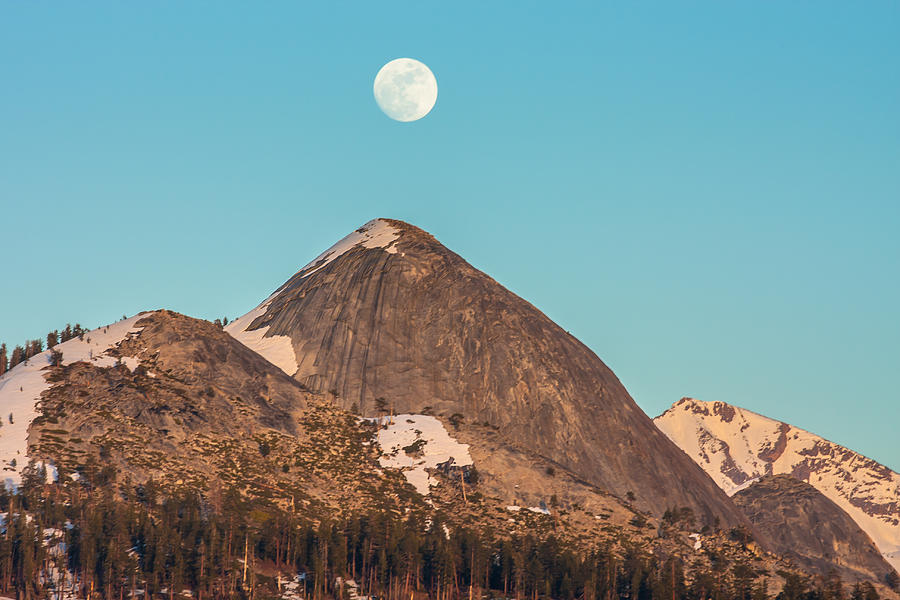 Landscape Photograph - Moon Over Sierra Peak by Marc Crumpler