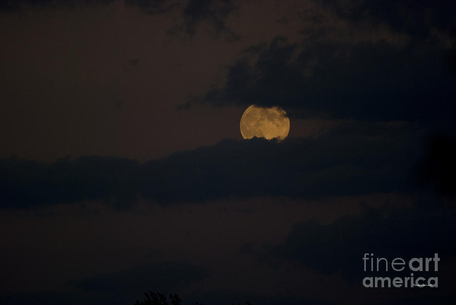 Full Moon Photograph - Moon Rising 04 by Thomas Woolworth