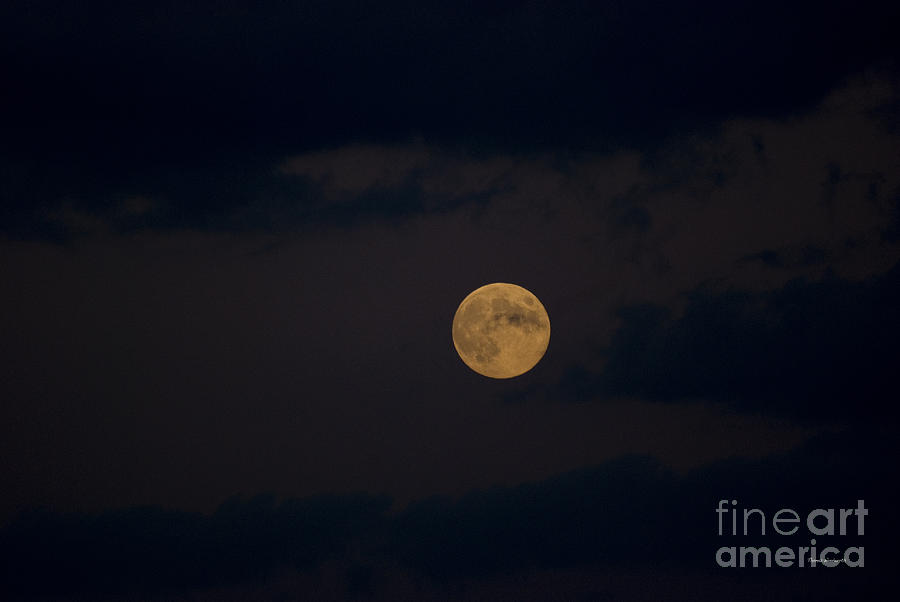 Full Moon Photograph - Moon Rising 05 by Thomas Woolworth