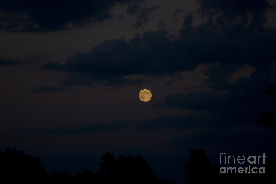 Full Moon Photograph - Moon Rising 06 by Thomas Woolworth