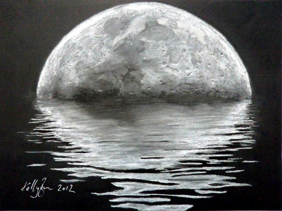 Moon Rising Drawing By Skyrah Saunders