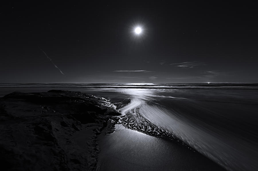 Moon Photograph - Moon River by Richard Leon