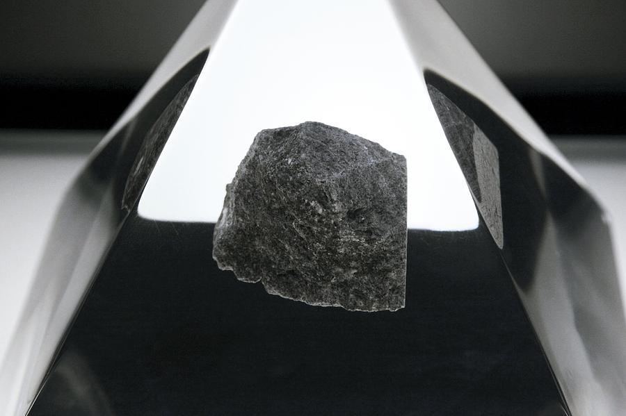 Moon Rock Photograph - Moon Rock Sample by Detlev Van Ravenswaay