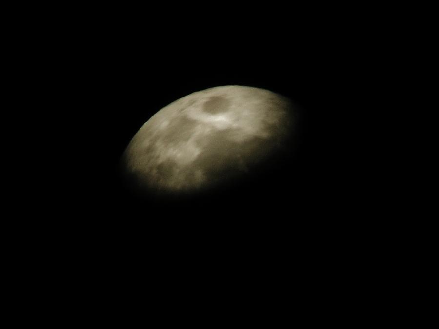Moon Photograph - Moon Side by Aliesha Fisher