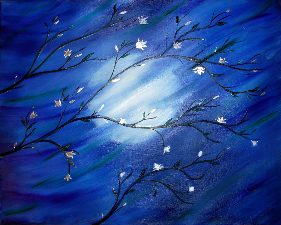 Landscape Painting - Moon Swept by Color Blast