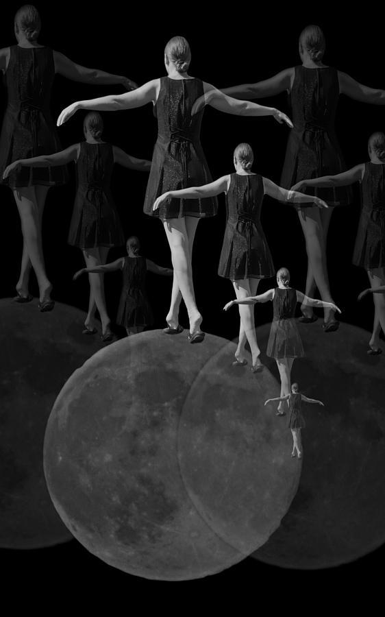 Moon Digital Art - Moon Walking by Betsy Knapp