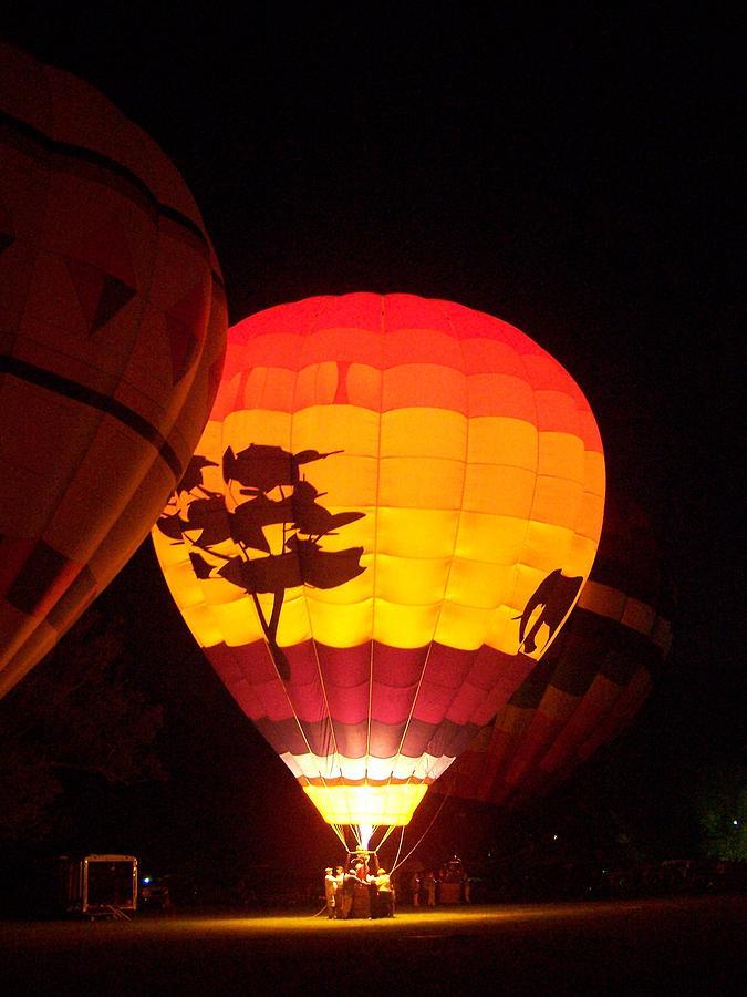 Hot Air Balloon Photograph - Moonglow by Deborah Austin