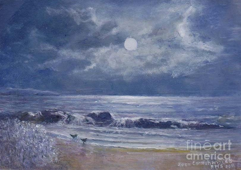 Moon Painting - Moonglow by Joan Cornish Willies