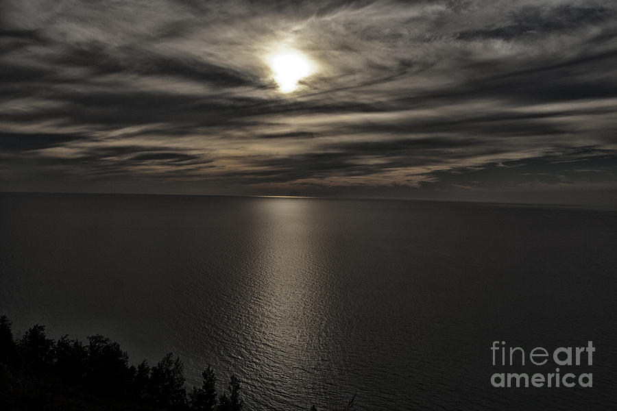 Lake Michigan Photograph - Moonglow Over Lake Michigan by Christopher Purcell