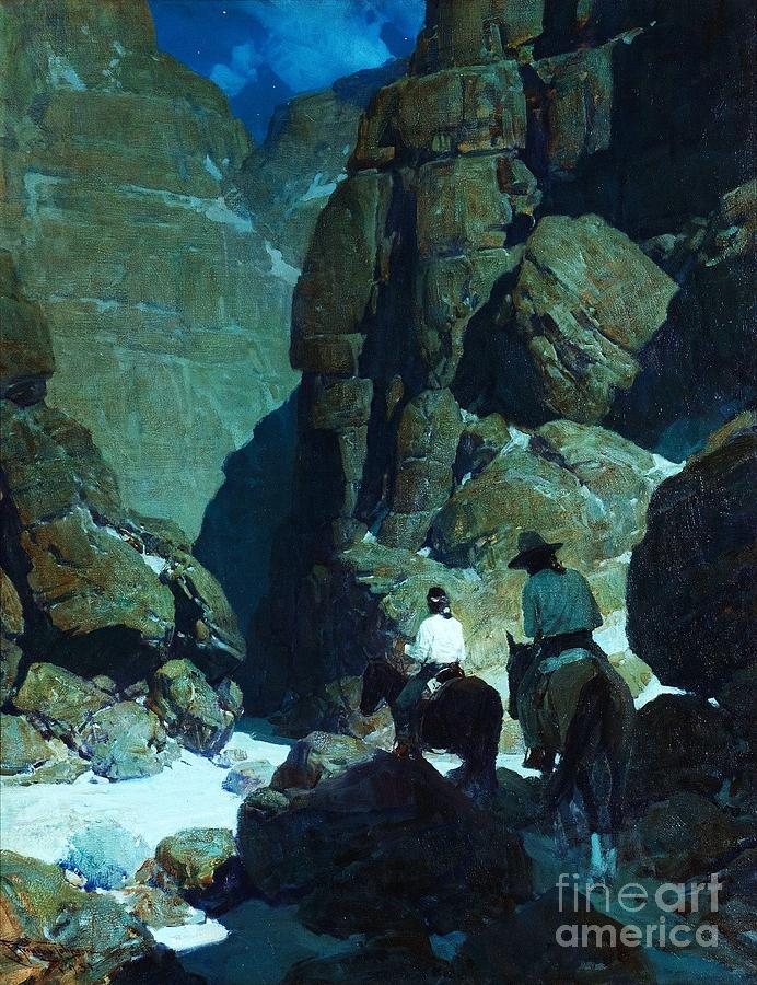 Pd Painting - Moonlight Canyon by Pg Reproductions