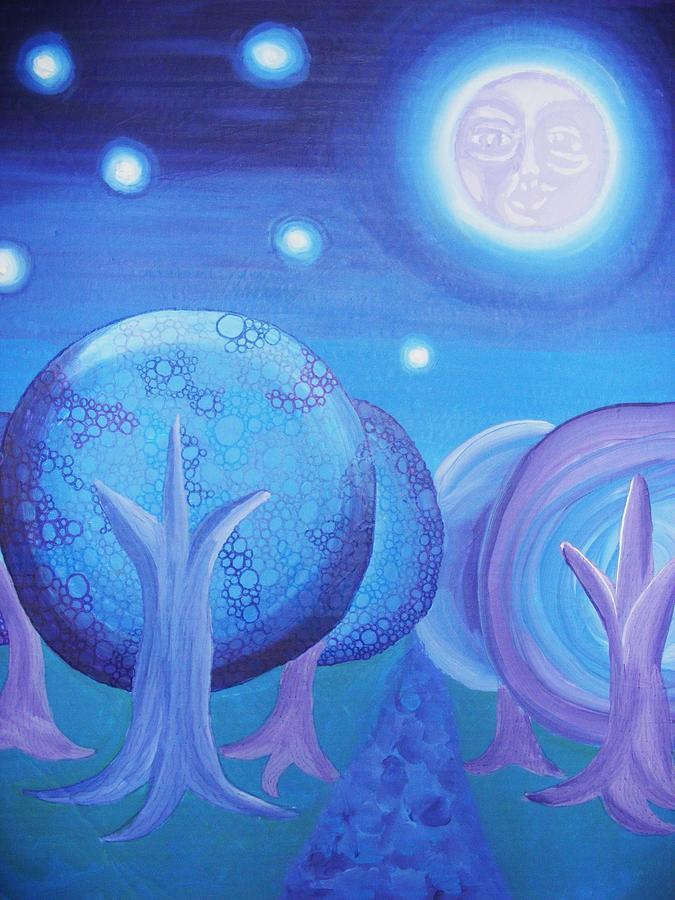 Moon Painting - Moonlight by Nichole Williamson